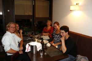 Navarra Quartet with BBT\'s Executive Director Susan Rivers in Verbier