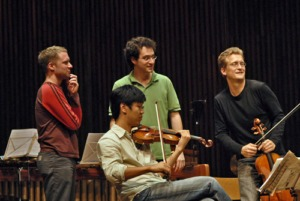 Shai Wosner with Colin Currie, Christian Tetzlaff and Soovin Kim on Tour with BBT 2006