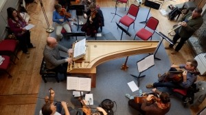 Bird's eye view of Scarlatti rehearsals. Photo: Claire Hammett
